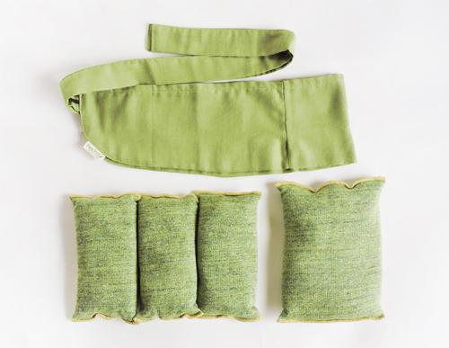 塩温石式 ぬか袋&カバーセット(お豆形)